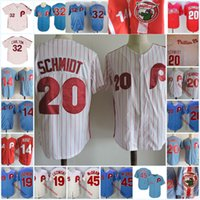 Wholesale steve red for sale - Mens Mike Schmidt Vintage Jersey stitched PETE ROSE Jersey Greg Luzinski Steve Carlton Tug McGraw Baseball Jersey