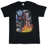 imágenes de camisetas de cuello v al por mayor-Camiseta para hombre de Evil Dead 2 - Imagen de póster de estilo tailandés Imagen de denim clothes camiseta? T shirt