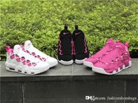 Wholesale row leather - AAA Quality Air More Money QS Think Pink Kay Row Breast Cancer size 11 DS Sneaker Room Basketball Shoes With Original Box