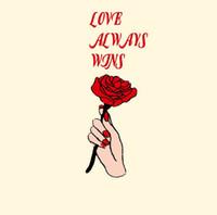 rose patch großhandel-Liebe immer gewinnen Rose Aufkleber T-Shirts und Hoodies lustige DIY Aufkleber Männer Frauen Paare Liebe Patches Aufbügeln Transfers Patches für Kleidung