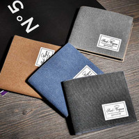 Wholesale fashionable credit card holders - Fashionable Nubuck Leather Men Wallet Solid Color Stylish Multi-Functional Slim Money Clip Card Holder 4 Colors