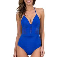 Wholesale lady m one piece swimwear for sale - Summer Styles Lady Camisole Backless Bathing Suit Sexy Net Yarn Bikini Women One Piece Swimwear Conjoined Swimsuit yw W