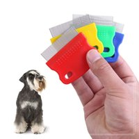Wholesale cat fine - Fine Toothed Pet Flea Comb Steel Brush Cat Dog Grooming Combs for Dog Cat Kitten Hair Trimmer Brushes DDA388