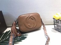 Wholesale Brown Suede Purse - hot sale new style women fashion handbag real leather high quality shoulder bags totes purse disco Cross Body
