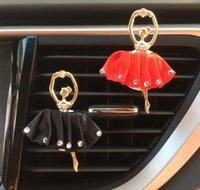 kızlar için dans aksesuarları toptan satış-Bale Kız Hava Firar Klip Parfüm Koku Hava Spreyi Dans Kız Aroma Dekorasyon Aksesuar Araba Iç Hava Firar Klip
