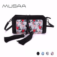Wholesale Sling Harness - MUSAA Fresh Simple Small Sling Shoulder Bag for Women PU Leather Crossbody Bags Detachable Harness Handbag Multi-color Optional