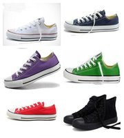 Wholesale mint drop - size 35-46 New Unisex Low Style Adult Women Mens Canvas Shoes Laced Up Casual Shoes Sneaker 14 Colors Drop Shipping Top