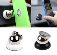 Wholesale dash mount car phone holder resale online - 2 Colors Universal Magnetic Car Mount Holder Multifunction Rotary Phone Magic Car Dash Holder Magic Stand Mount FFA119