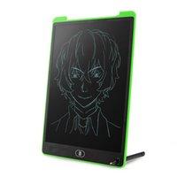 ingrosso green tablet-Commercio all'ingrosso portatile da 12 pollici verde LCD Tablet, blocco schermo scrittoio elettronico, tavolo da disegno, blocco note con stilo per bambini, adulti