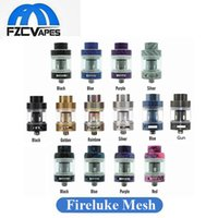 Wholesale atomizer mesh - 100% Original Freemax Fireluke Mesh Tank 3ml Mesh Coil Subohm Atomizer 17 Colors 3 Material Option E Cig Vape Tank