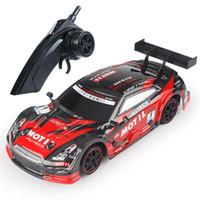 4wd sürüklenme araçları toptan satış-RC18 1:18 yüksek hızlı sürüklenme dört tekerlekten çekiş rc sürüklenme araba 4wd 2.4g 4ch oyuncaklar çocuklar için