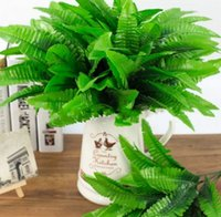 Wholesale Tea Leaves Wholesale - Artificial Flower Leaves Plants Pretty Fake Lifelike Plastic Persian Grass Lysimachia Fern floral decoration free shipping MYY