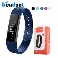 Wholesale Outdoor Camera App - 115 Smart Bracelet Fitness Tracker Step Counter Activity Monitor Band Alarm Clock Vibration Wristband for iphone With DayDay APP