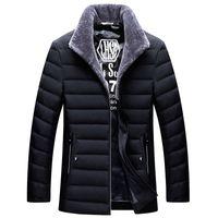 ingrosso giacca casual dei giovani-2017 giacche invernali e cappotti spessi caldi moda casual bello giovani uomini Parka fit neve freddo velluto piumino qualità calda