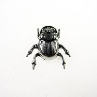 Wholesale Cute Anniversary Gifts - Latest Brooch Pin Newest Insect Pins And Brooch Vintage Cuff-Link Button Fashion Cute Insect Beetle Brooch For Women And Men 5 Colors