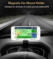 suporte para tablet para carro venda por atacado-Suporte de Telefone Móvel Do Carro de Ventilação de Ar Universal Suporte de Navegação Magnetizada HUD Dashboard 360 Graus Para Tablet iPhone X 8 7 6 6 s além de samsung