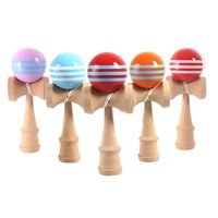 Wholesale japanese balls online - Kendama Ball cm Japanese Traditional Wood Kendama Ball Game Toy Education Gift Kendama Ball Wood Toys OTH873