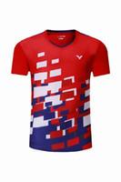 tischtennis kurz t-shirt großhandel-Neue 2018 Victor Badminton Wear T-Shirt Malaysia Wettbewerb Badminton Kleidung Männer / Frauen Kleidung Jersey Schnell trocknende Tischtennis Shorts