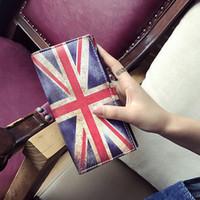 Wholesale Mini Coin Envelopes - Creative National flag PU leather fashion handbag Mini shell envelope evening Dinner card bag wallet Clutch hasp designer handbags 180105007