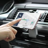 soporte de resorte al por mayor-CD de coche universal ranura del teléfono del montaje del sostenedor con extensible pinza accionada por resorte para el iPhone X 8 8plus