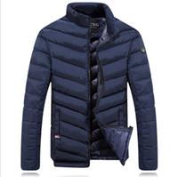 veste en plumes achat en gros de-Marque Designer-Hiver Down Jacket Hommes Nouvelle Marque Hommes Stand Col En Faite Oie Plume Manteau Épais Hommes Parkas Veste thermique pour hommes