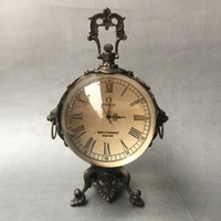 Wholesale Paper Sphere - Antique bronze goods beast ear sphere Western beauty watches mechanical watches home decoration