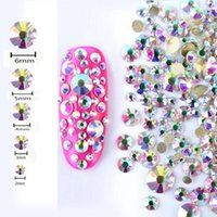 Wholesale nail deco - 450 pcs 2mm - 6mm New Nail Art Rhinestones Acrylic Tips Deco Sequins Colorful nail art decorations Dropship Beauty Mar 12