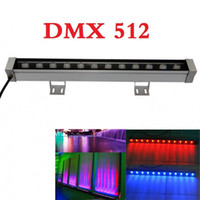Wholesale Led Bar Rgb Dmx - DMX 512 RGB LED Wall Washer light 24V 12W led floodlight IP65 outdoor lighting For Bar Lighting