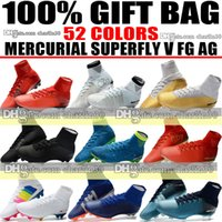 Wholesale high heel boots beige - New High Tops 2018 Soccer Cleats Socks ACC Mercurial Superfly V FG AG Football Boots Mercurial Superfly CR7 Ronaldo Neymar JR Soccer Shoes