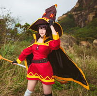 Wholesale Magician Costume Women - KonoSuba God's Blessing On This Wonderful World Witcher Cosplay Magicians Megumin Cosplay Costumes for Sale