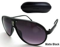 Wholesale Matte Black Frame Glasses - 2018 New Retro Brand Designer Sunglasses Classic Aviator Sunglasses for Men Women Driving Sun glasses UV400 Matte Frame Eyewear With Case