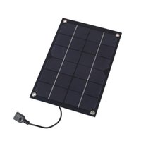 laptop solar ladegerät großhandel-6W 6V Ausgang Solar Panel Batteriezellen Spannung Ladegerät Controller MAX 1A USB Ausgang Geräte Portable Smartphones geteilte Fahrrad
