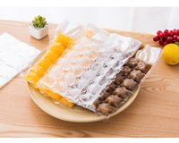 Wholesale ice cube tray plastic - Disposable Ice Cube Bags 10Pcs Frozen Juice Liquid Clear Sealed Pack Party Bar BBQ Ice Cream Model Ice Cube Tray Mold