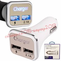 tarro de usb al por mayor-Cargador de coche USB dual QC2.0 LED Carga rápida Cargador de coche súper rápido para Samsung Galaxy Note 5 S6 S7 S7 S7 S7 Edge para iPhone 5 6 7