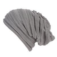 Wholesale crochet baggy hats for sale - Group buy snowsong Men Women Baggy Warm Crochet Winter Wool Knit Ski Beanie Skull Slouchy Caps Hat