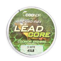 ingrosso affrontare treccia-45lb 5m Leadcore Camouflage Carp Braided Line Rigs Capelli Lead Core Tackle Accessori per la pesca