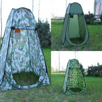 Wholesale camp shower tents - Portable Privacy Shower Toilet Camping Pop Tent Camouflage function outdoor dressing Trial dressing cover Convenient Eco Friendly 50bg dd