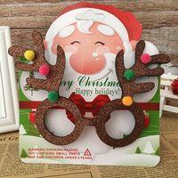 ingrosso decorazioni di bordi-Vendita transfrontaliera di nuovi prodotti specifici per la decorazione natalizia per bambini Cornice per occhiali adulti Decorazioni natalizie divertenti suppl