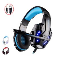 Wholesale blue apple laptops - KOTION EACH G9000 3.5mm Gaming Headphone Headset Earphone Headband with Microphone LED Light For PS4 Laptop Tablet Mobile Phones