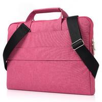 ingrosso valigetta da 11 pollici-Sacchetto di spalla con la cinghia per DELL HP LENOVO Macbook Ausu 13 15 Inch Laptop PC Valigetta di protezione sacchetti della chiusura lampo