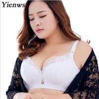 e96c86aac6b Sexy Lace Bras for Women Bralette Lingerie Plus Size Bra Push Up White  Black Brassiere 3 4 Cup D E Big Size Bras YID003
