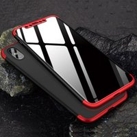 Wholesale galaxy duos cases - 360 Degree Full Body Protection Matte Hard PC Cover Case For iPhone X 8 Plus 7 6 6S Samsung Galaxy S9 S8 S7 edge J2 Pro J3 J5 J6 J7 Max Duo