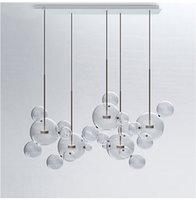 ingrosso luci a soffitto di vetro a bolle-Lampada a sospensione moderna per lampadari a LED in vetro a forma di lampada a sospensione Micky New AL119