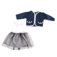 Wholesale zapf dolls - Winter Coat Dress For 18 Inch Doll American Girl Doll Clothes Set Suit Set Fit 43cm Baby Born Zapf Dolls