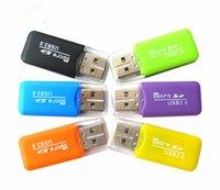 ingrosso lettore di carte ad alta velocità-Ad alta velocità USB 2.0 Micro SD card T-Flash TF M2 lettore di schede di memoria adattatore 2 gb 4 gb 8 gb 16 gb 32 gb 64 gb carta di tf