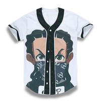 männer kurzhülse strickjacke großhandel-Neue heiße Artjungen 3D druckten die Baseballt-shirts der Liebhabermänner und -frauen mit kurzen Ärmeln