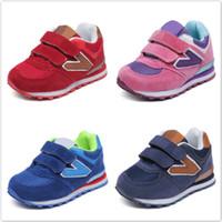 koşu net spor toptan satış-İlkbahar Sonbahar Net Nefes Çocuklar Bebek Erkek Kız Ayakkabı Anti-Kaygan Çocuk Sneakers Toddler Ayakkabı Koşu Spor Ayakkabı