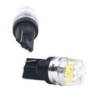 araç ışık ledli lamba 12v toptan satış-2 ADET Sıcak Satış !!! Yeni Beyaz 2 LED 5630 SMD T10 W5W Kama Lens Işık Araba Araç Ampul Lamba DC 12 V