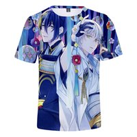 spiel japan heiß großhandel-3D ONLINE Japan Anime Hot Spiel männer Sommer T Shirts Paare Oansatz Kpop Hip Hop Harajuku Kawaii Vintage Gothic T-Shirt 4XL