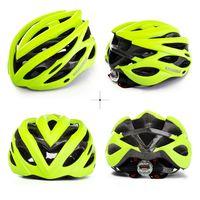 Wholesale helmet bike light online - Lightweight Cycling Helmet With Warning Light Taillight Intergrally Molded Anti Seismic Colorful Helmets Sunscreen Grind Bike Parts ts jj